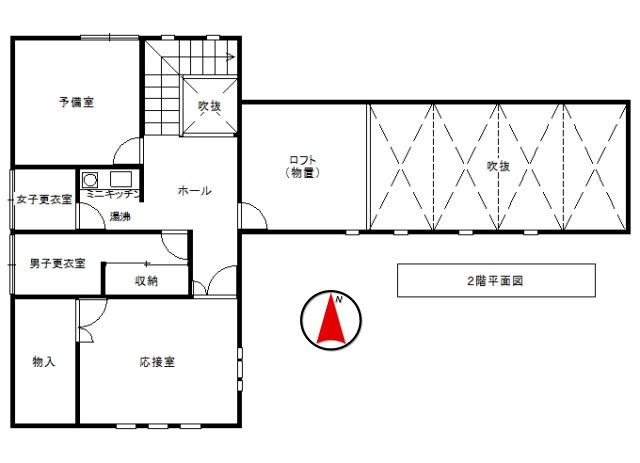 軽井沢戸建2階平面図